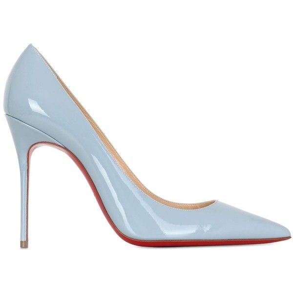 CHRISTIAN LOUBOUTIN 100mm Decollete 554 Escarpins en cuir verni.
