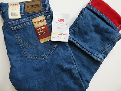Jean thermique Wrangler Rugged Wear pour homme - Doublure 3M Thinsulate.