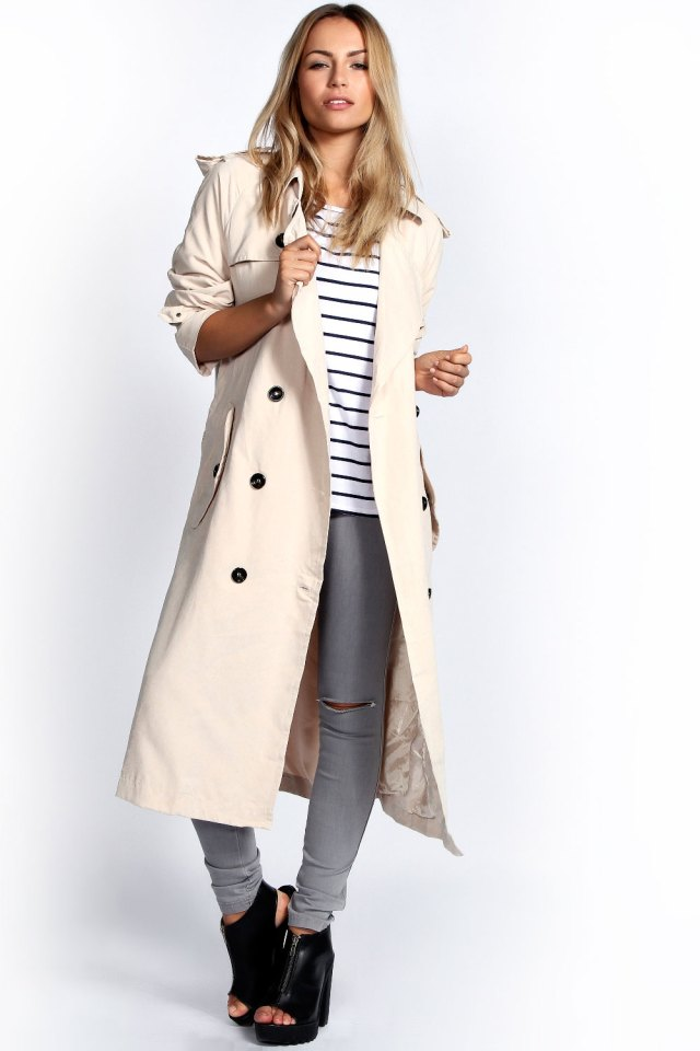 Tenue femme trench long