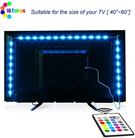 Amazon.fr: TV-LED-Backlight, Maylit Pre-Cut 6.56ft LED Strip.