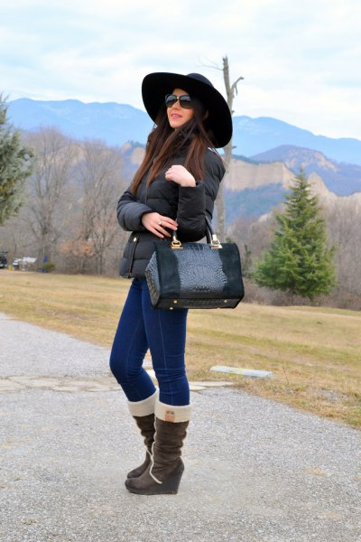 Jean skinny bottines en molleton Teddy