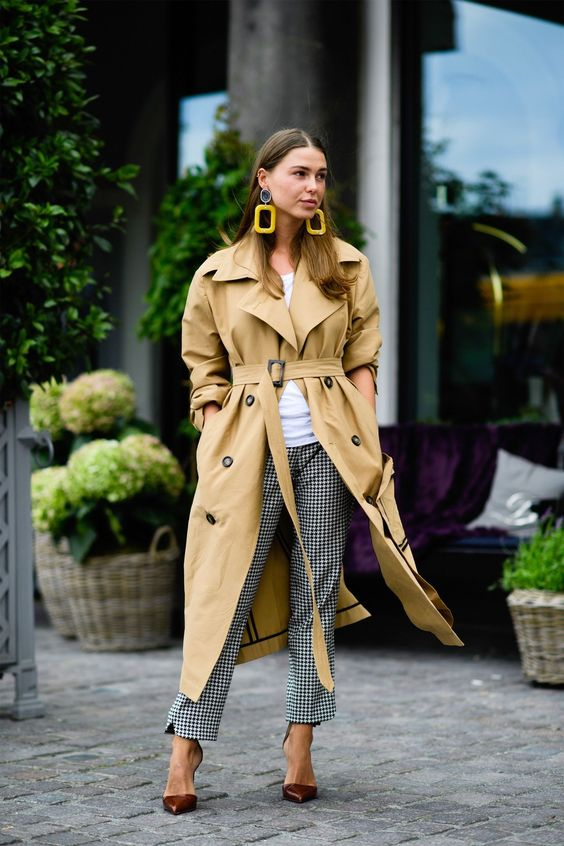 Trench oversize moutarde