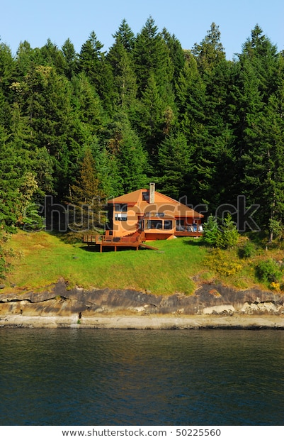 Nice Seaside Cottage Family Relaxing Pender Stock Photo (modifier maintenant.