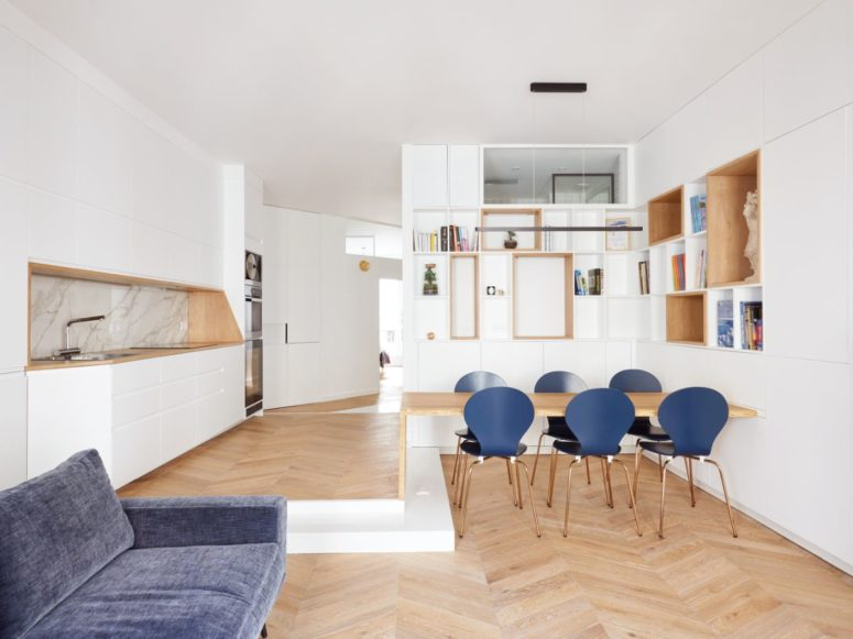 Appartement Paris Contemporain Avec Blues Et Geomet