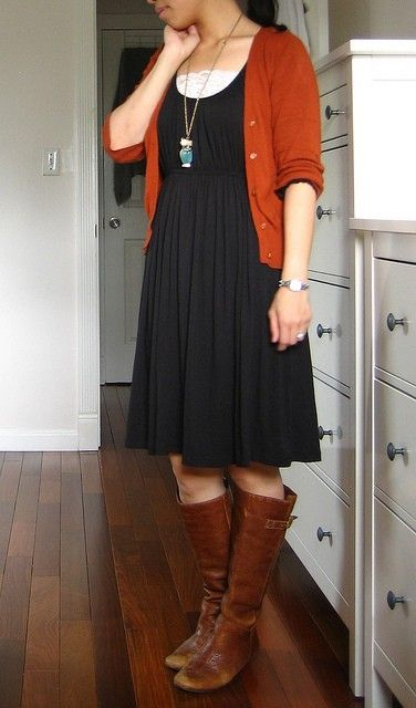 robe cardigan marron taille empire