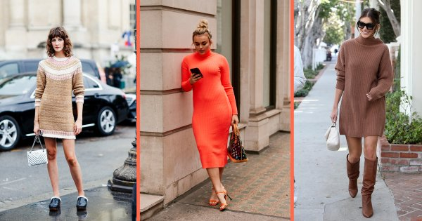 Comment porter une robe-pull rouge