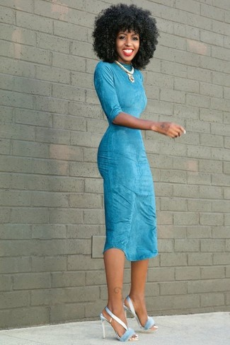 Comment porter une robe turquoise