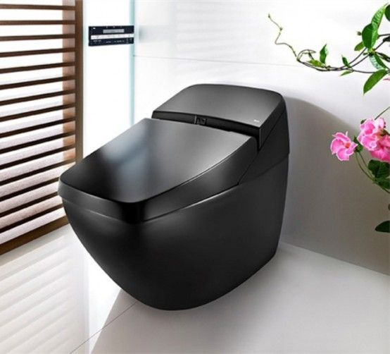 Toilette Cool Black Hi Tech Lumen Avant de Roca
